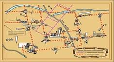 Карта изображений пустыни Наска.