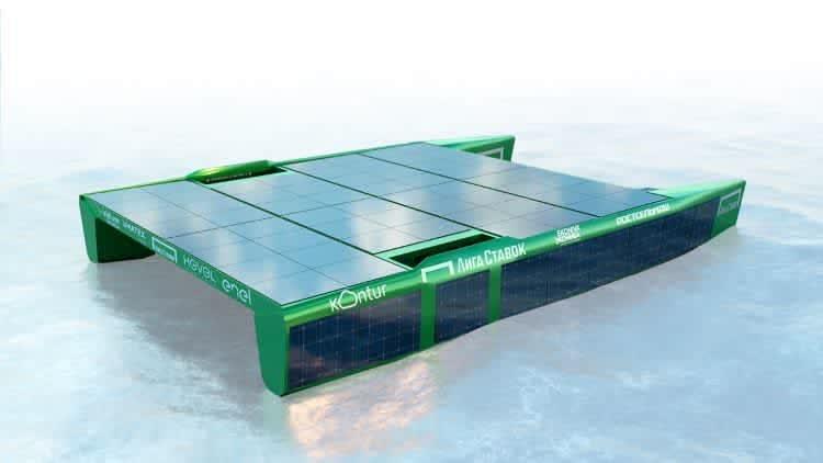 Судно-катамаран на солнечной энергии Ф. Конюхова.