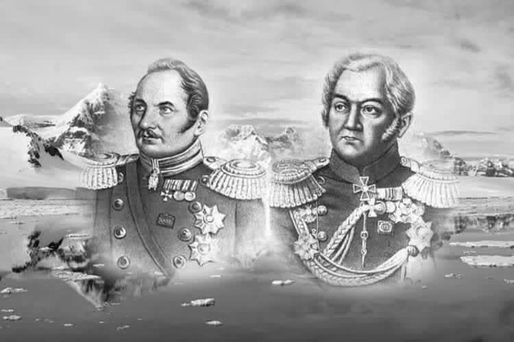 Фаддейн Белинсгаузен и Михаил Лазарев, мореходы, открывшие 6-й континент, твердую землю.