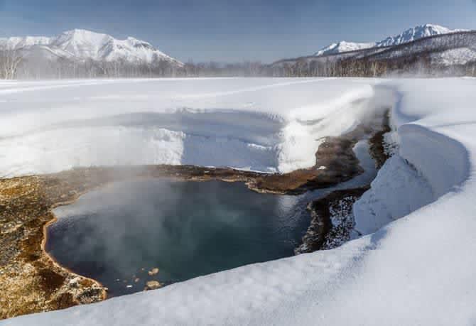 Национальный парк Налычево зимой.